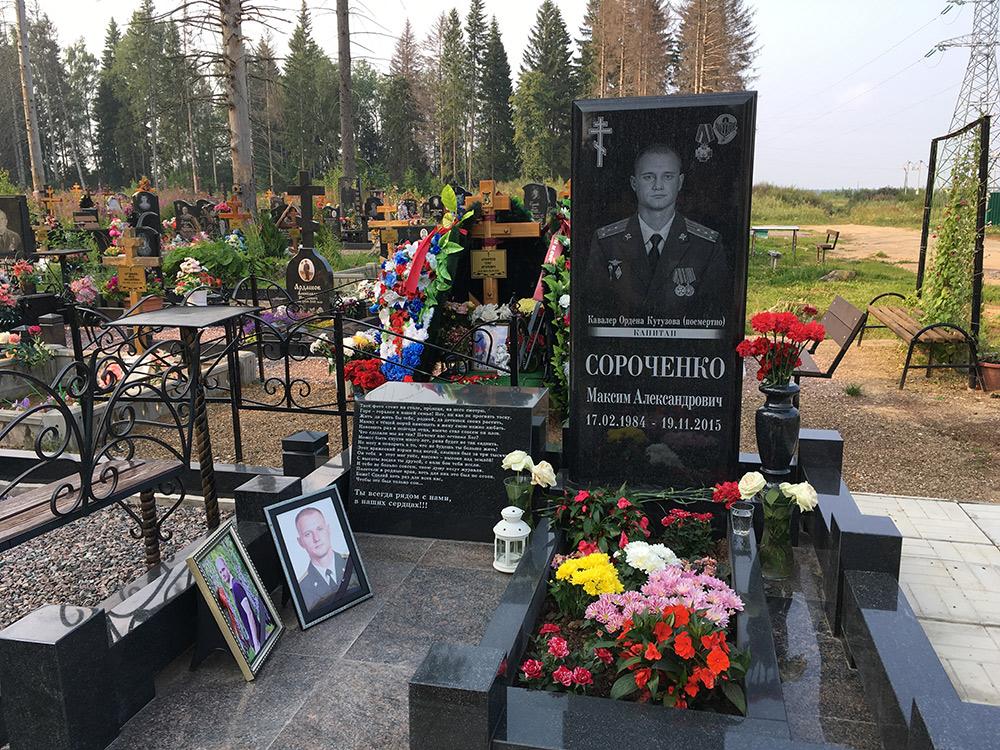 Могила Максима Сороченко