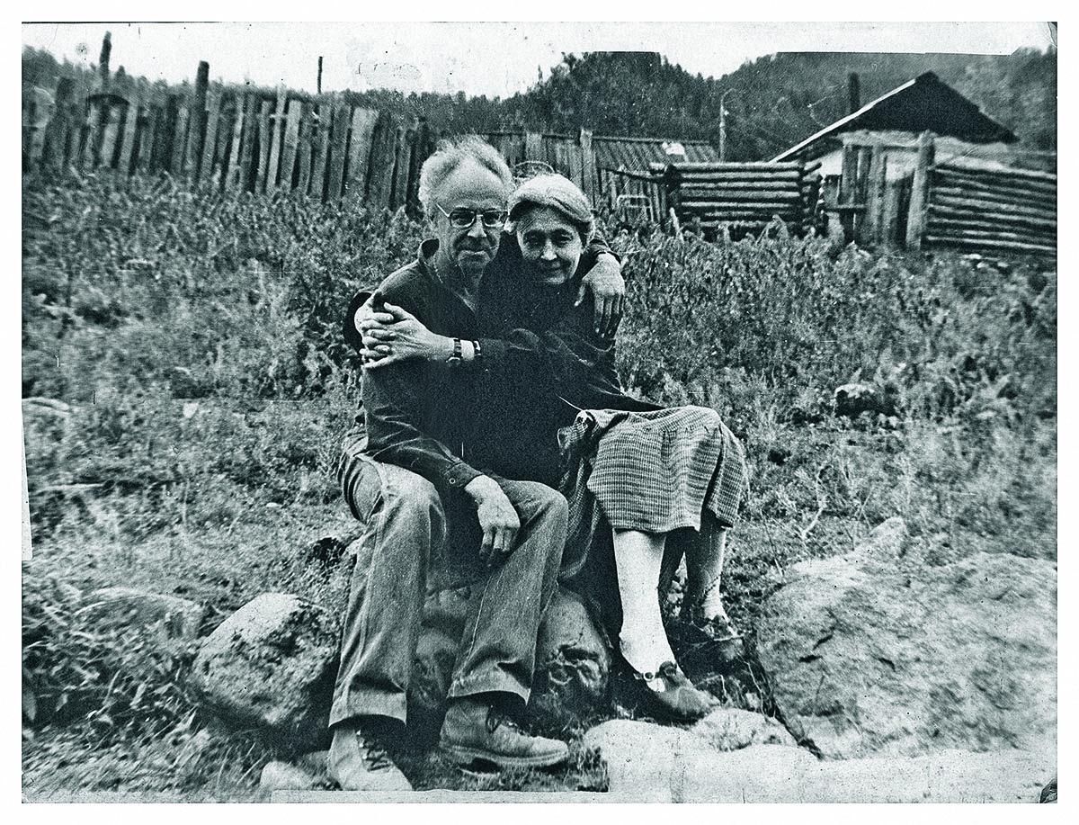 Феликс Светов и Зоя Крахмальникова, поселок Усть-Кан, Алтайский край, август 1983 года