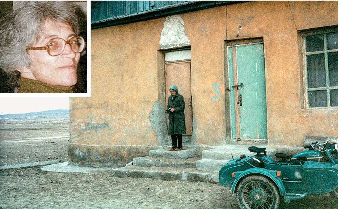 Татьяна Великанова в ссылке  в Западном  Казахстане,  1985 год