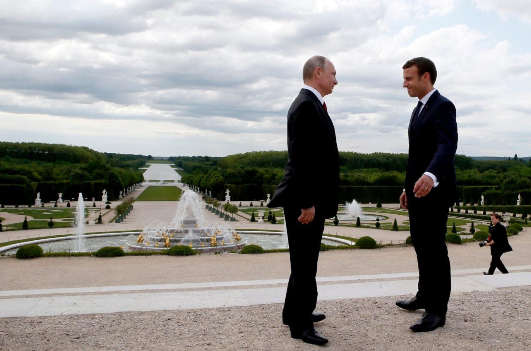 Э.Макрон прокомментировал встречу с В.Путиным